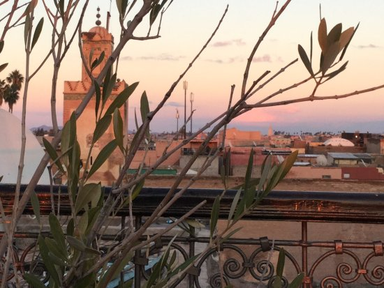 Riad Assakina: Sunset view