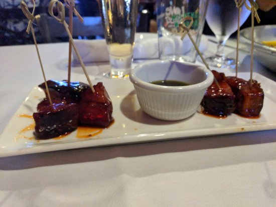 Dickinson, TX: Candy Bacon Appetizer - By far the BEST thing we ate during our visit!