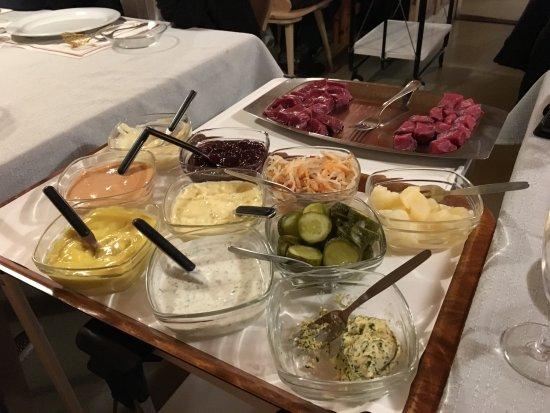 Restaurant Teufi: Einfache fantastisch - Fondue Bourgignone