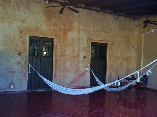 Maxcanu, Mexico: Room #10's large patio (both doors lead to suite).
