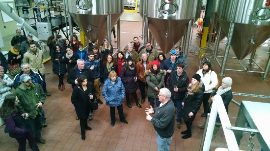 Pittston, Pensilvania: SBC tour being conducted by one of the brewery's founders
