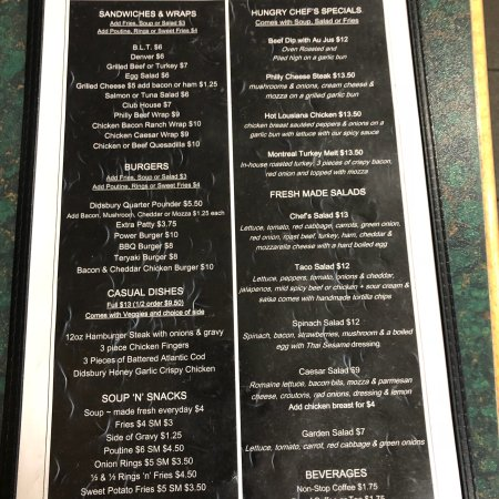 Large selection on the menu - Picture of Country Nook