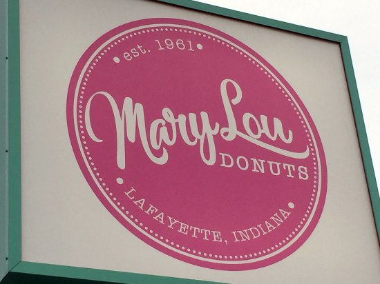 Mary Lou Donuts: Mary Lou sign