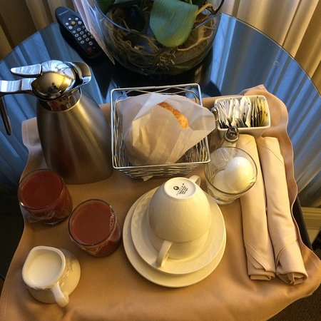 Lambertville, NJ: Continental in room breakfast with optional hard boiled eggs