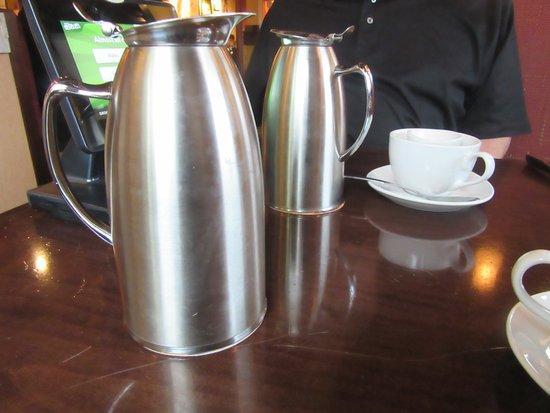 Blasdell, NY: Coffee pots left on the table