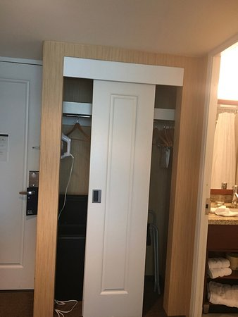 Charming Sheraton Boston Hotel: This Shows The Closet, Which Was Quite Tiny.