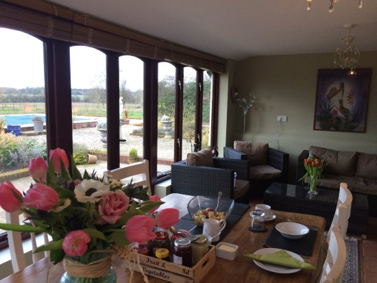 Bressingham, UK: View from guest dining room