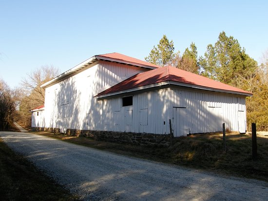 Stagville State Historic Site: Stagville Plantation's Great Barn, built in 1860, measures 132 feet by 33 feet.