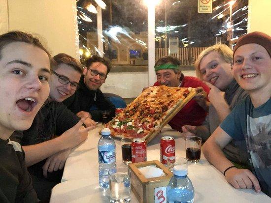 Pizzeria Ciao Italia: From the left: Niklas, Julian, Erik, Claudio himself, Rasmus, and me.