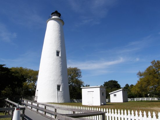 """Ocracoke Lighthouse: The 75-foot lighthouse, built in 1823, is a """"must-see"""" Ocracoke Island attraction."""