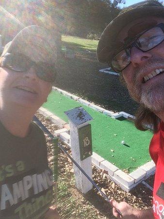 Whitney, TX: We always play the free mini golf.
