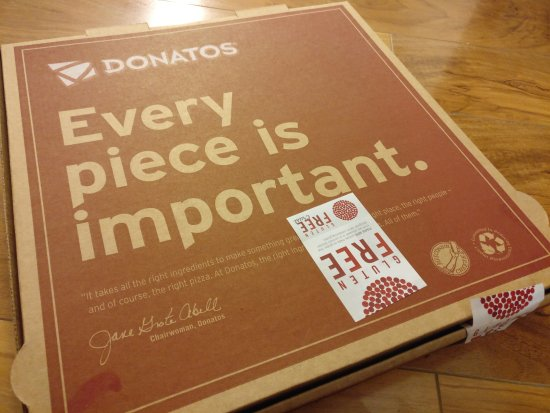 Donatos Pizza: Every piece counts - for sure!!