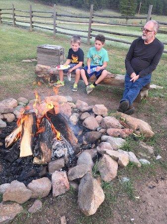 Lake George, CO: The bonfire.