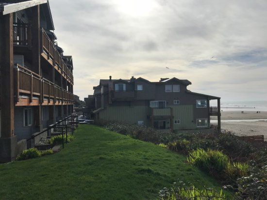"Surfsand Resort: ""Oceanfront"" building Foreground, ""Beachfront"" Building Background"