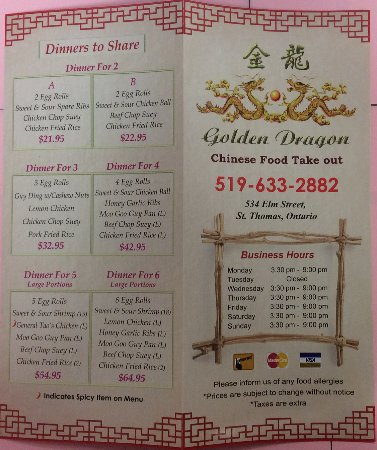 Phone Number For Golden Dragon