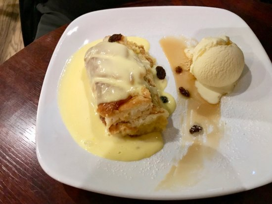The Hairy Lemon Cafe Bar : Bread and Butter Pudding