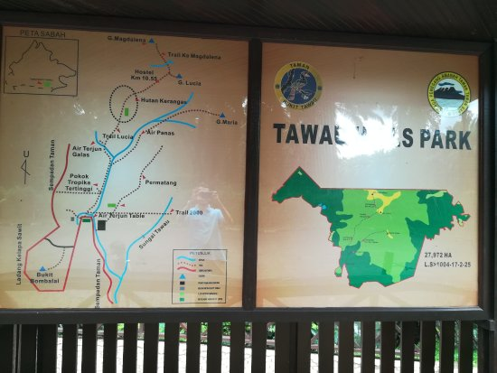 Tawau Division, Malaisie : map at the entrance