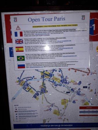 Open Tour Paris : Information nur an der Station der Zentrale !