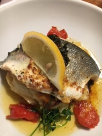 Badby, UK: Sea Bass