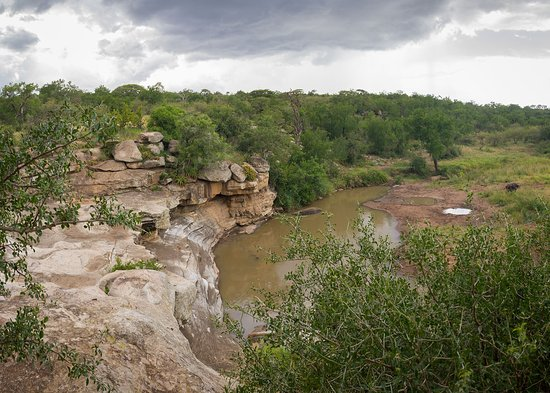 Hluhluwe Game Reserve, Zuid-Afrika: View from Mphafa hide