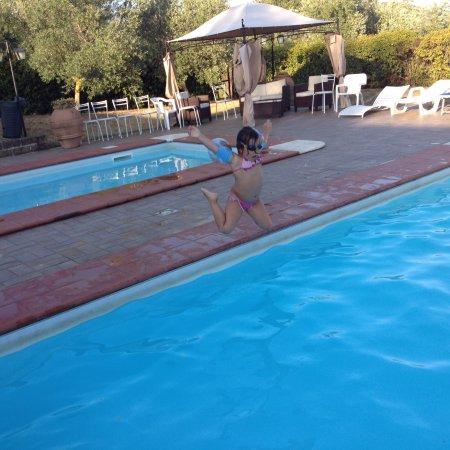 Fattoria Collepina: Bagno in piscina