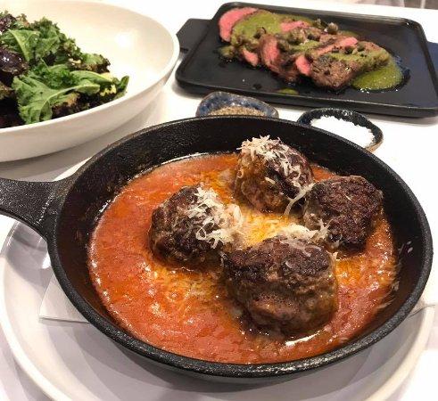 Kenmore, Australia: Lamb Meatballs, Flank steak, Beetroot Salad