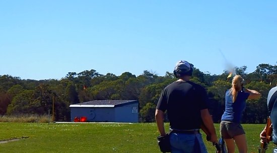 Belmont, New Hampshire: Beautiful and intricate clay pigeon shooting