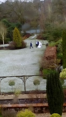 Oakmere, UK: The snow did not put off the brides photo shoot