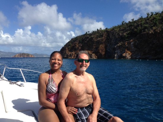 West End, Tortola: Relaxing in the sun after snorkeling