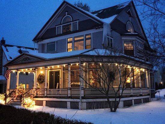 Skaneateles, NY: Winter scene.