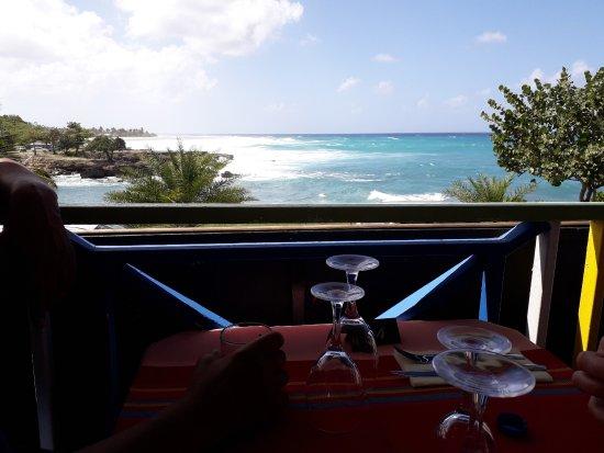 Le Rayon de Soleil: vue depuis notre table. Pas d'armada de bateaux qui vous gache la vue