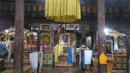 Thiksey, India: Main temple inside Thikse Gompa