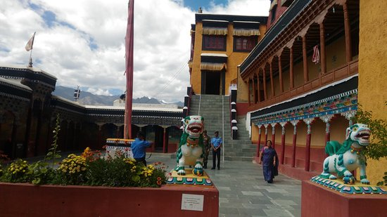 Thiksey, India: Inside Thikse Gompa