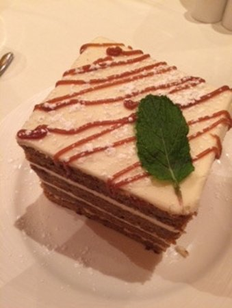 Lincolnshire, IL: This is the enormous delicious carrot cake they serve at Eddie Merlot's