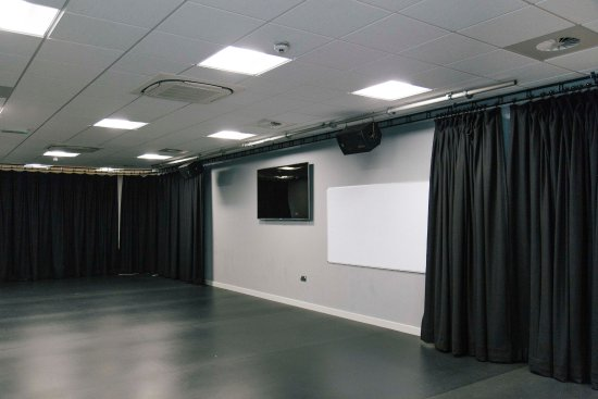 Our second studio space is perfect for meetings, rehearsals and intimate performances