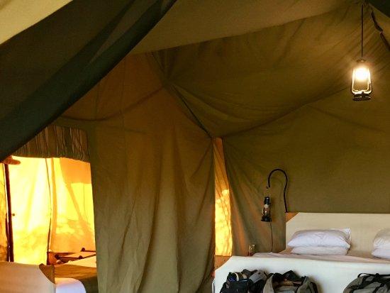 Olakira Camp, Asilia Africa: Interior of the family tent.