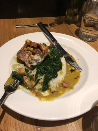 Niwot, CO: Special fish w/ spinach