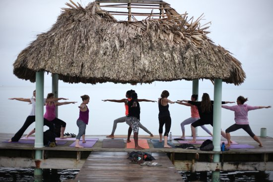 Punta Gorda, Belice: Yoga on the Pier in PG with Indira from CocoLove