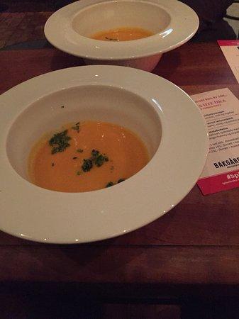 Bakgarden: Sweet potato soup.