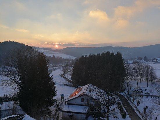 Heide Hotel Hildfeld: Mooie zonsondergang
