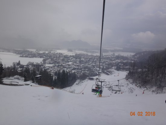 Oberaudorf, Deutschland: Sessellift am Hocheck - Talblick