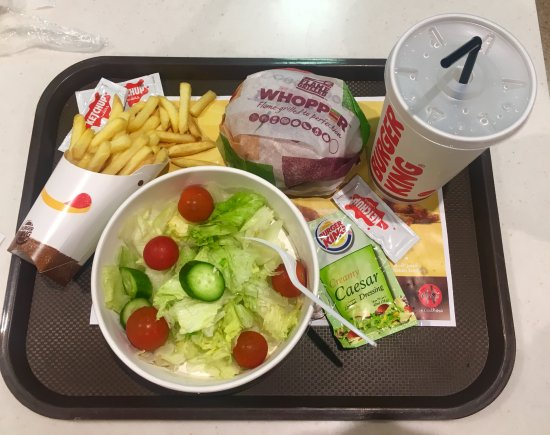 Whopper meal with a large green salad - Picture of Burger