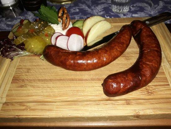 Altfrankische Weinstube : Schlotengel (geräucherte Bratwurst - kalt)