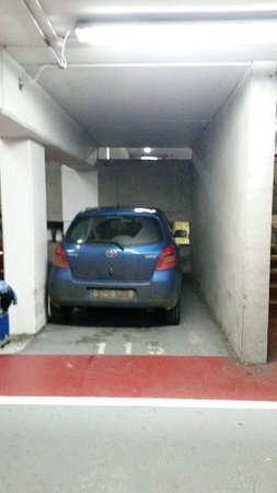 Car Small In The Context Of The Car Parking Space 2