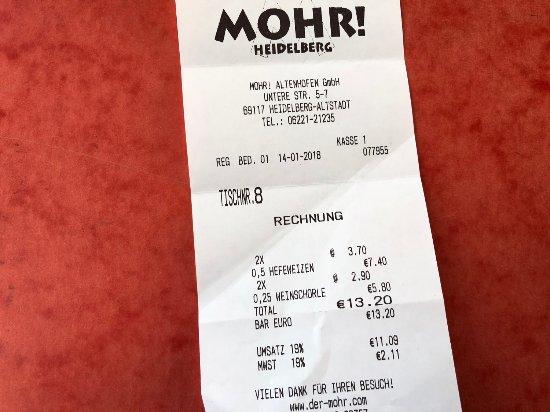 MOHR Bar Grill Heidelberg - Picture of MOHR Heidelberg, Heidelberg ...