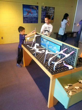 San Mateo, CA: Hunter loved the cool pvc piping play table