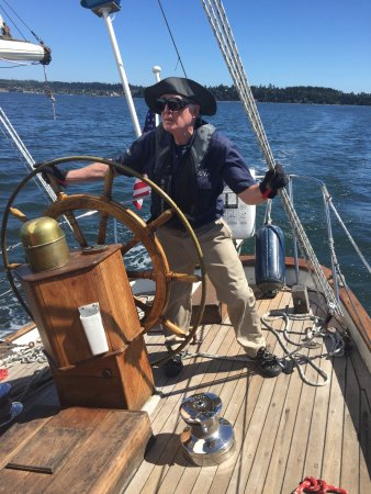 Coupeville, WA: One of Suva's volunteer crew members