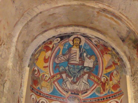 Eglésia de Sant Climent de Taüll: Ábside con la réplica del Pantocrátor.