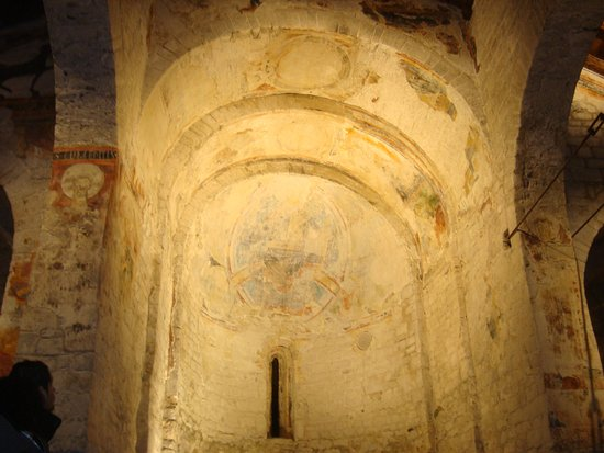 Eglésia de Sant Climent de Taüll: Ábsise desnudo sin la réplica.