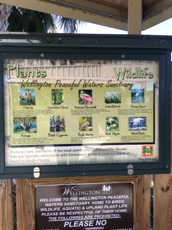Peaceful Waters Sanctuary: Display at the entrance